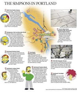 The Simpsons Map of Portland
