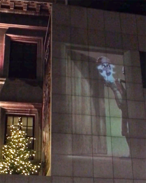VIDEO: The Door Slammer on one of the buildings in Reykjavik