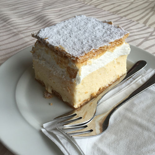 Lake Bled Cream Cake