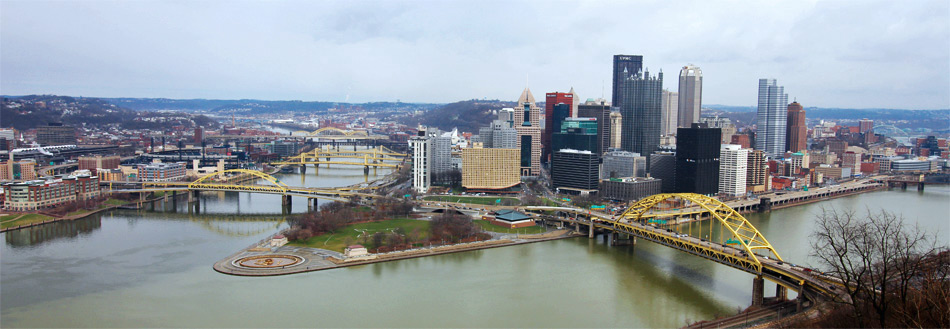 The view of Pittsburgh from the Duquesne Incline