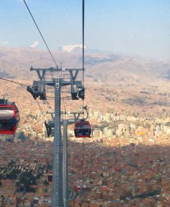 The view of La Paz by cable car