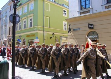 A parade in Krakow