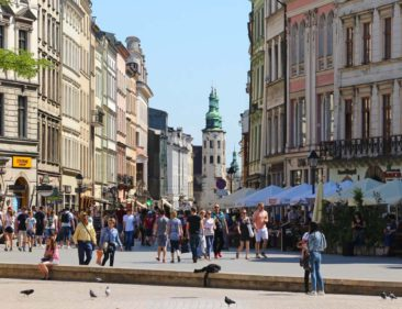 The streets of Krakow