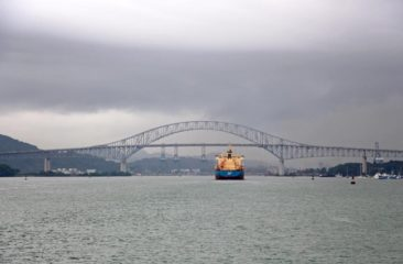 Entering the Panama Canal