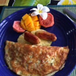 Delicious homemade breakfast at Taura'a Hotel