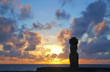Moai at Sunset