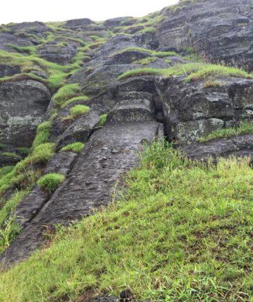 Huge Unfinished Moai