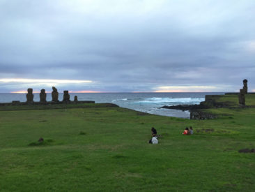 Ahu Tahai at sunset