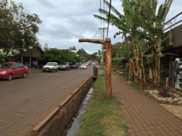 The streets of Hanga Roa, Rapa Nui