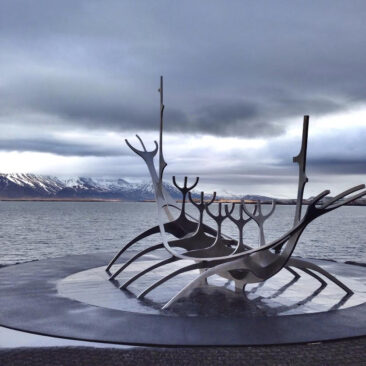 Sólfar The Sun Voyager in Iceland