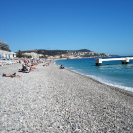 The Pebble Beaches of Nice, France