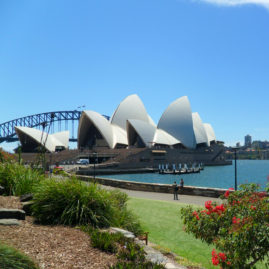 View of the Sydney Opera House from the Royal Botanic Gardens