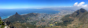 Cape Town from the top of Table Mountain