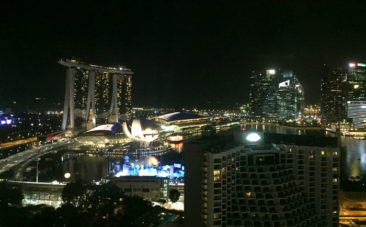 View from the Pan Pacific Hotel in Singapore