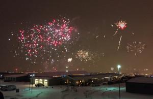 Fireworks over Reykjavik