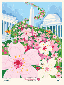 Official Poster for the 2016 National Cherry Blossom Festival