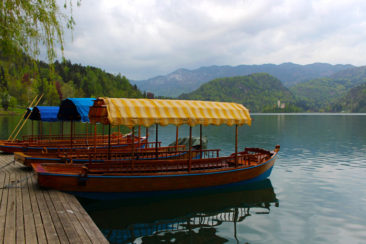 The boats of Lake Bled