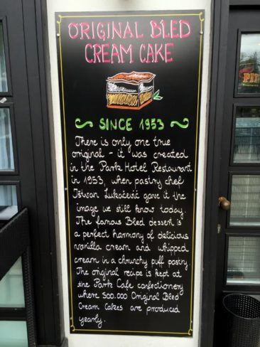 The story of the famous Bled Cream Cake
