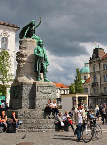 France Preseren Statue