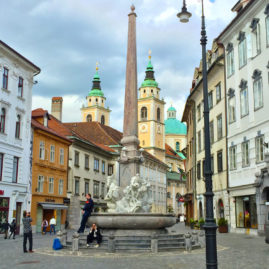 Robba Fountain, Ljubljana