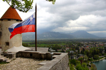 The view from Bled Castle