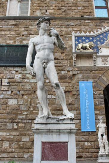 The David in Piazza della Signoria