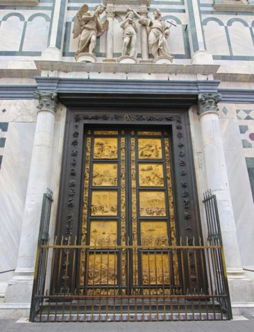 Ghiberti's Gates of Paradise outside of the baptistry