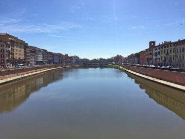 The Arno River in Pisa, Italy