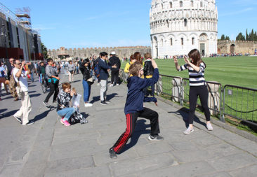 People watching at Pisa can be hilarious