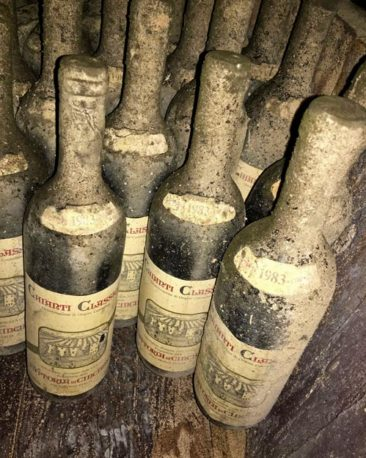 Old wine bottles in Tuscany
