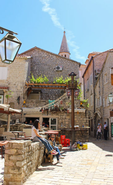 The streets of Budva