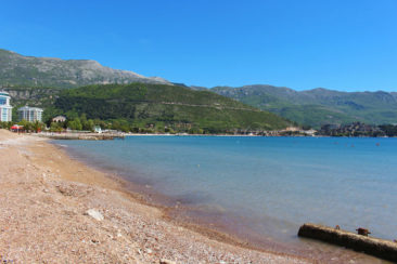 The beaches of Budva, Montenegro