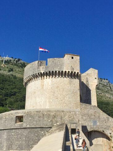 Minceta Tower in Old Town Dubrovnik, Croatia