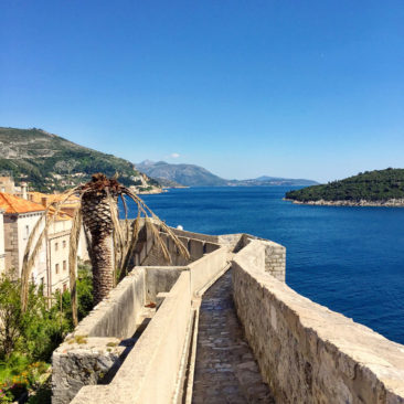 View of the wall around Dubrovnik