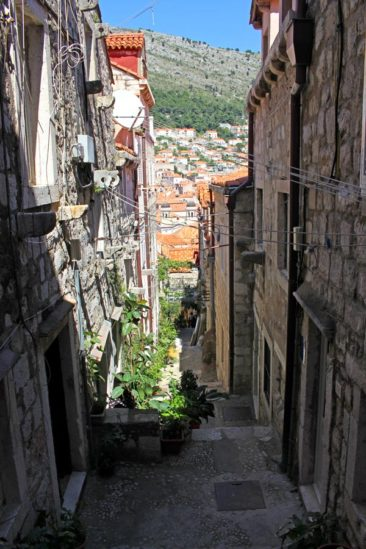 The Alleys of Old Town Dubrovnik, Croatia