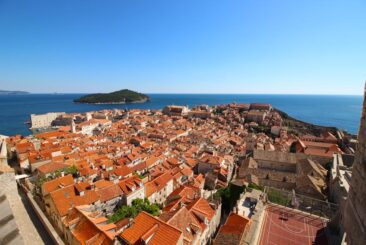 Rooftop Panorama of Old Town Dubrovnik, Croatia