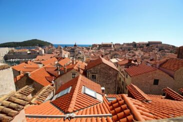 The rooftops of Old Town Dubrovnik, Croatia