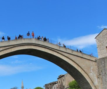 Bridge Jumpers in Mostar, Bosnia and Herzegovina