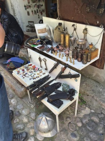 Relics from the Bosnian War in Mostar, Bosnia and Herzegovina
