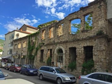 Buildings in Mostar, Bosnia and Herzegovina