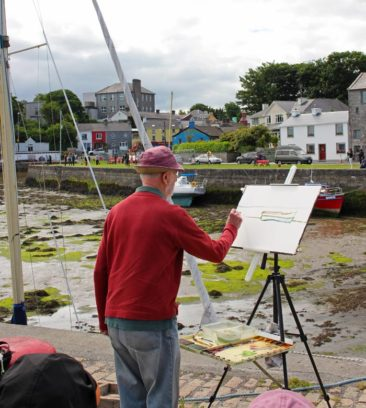 Painting in Kinvara