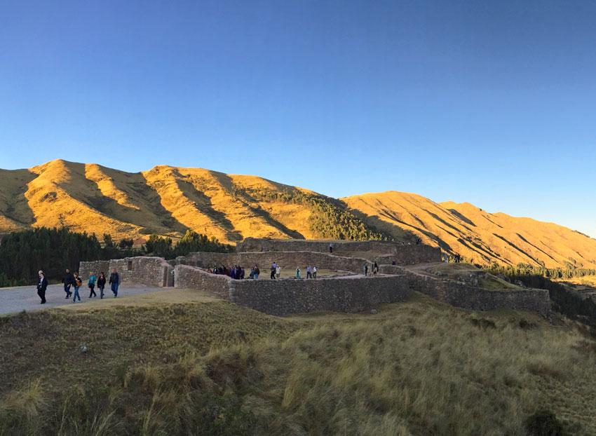 Puka Pukara at sunset