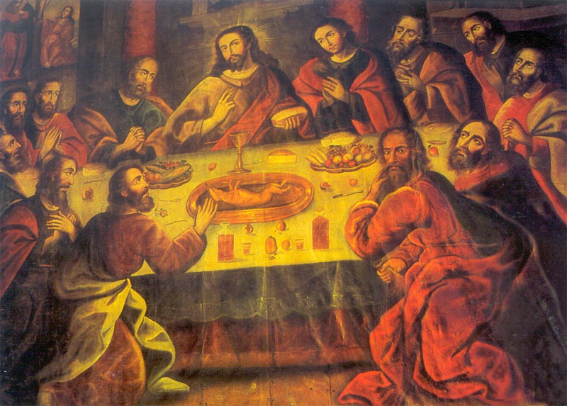 The Last Supper by Zapata, in the Catedral del Cusco