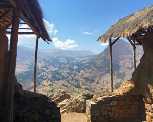 The view of the Sacred Valley from Pisac