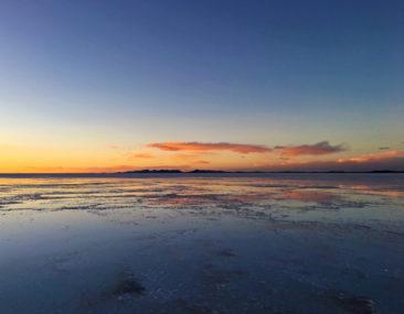 Salar de Uyuni at sunset