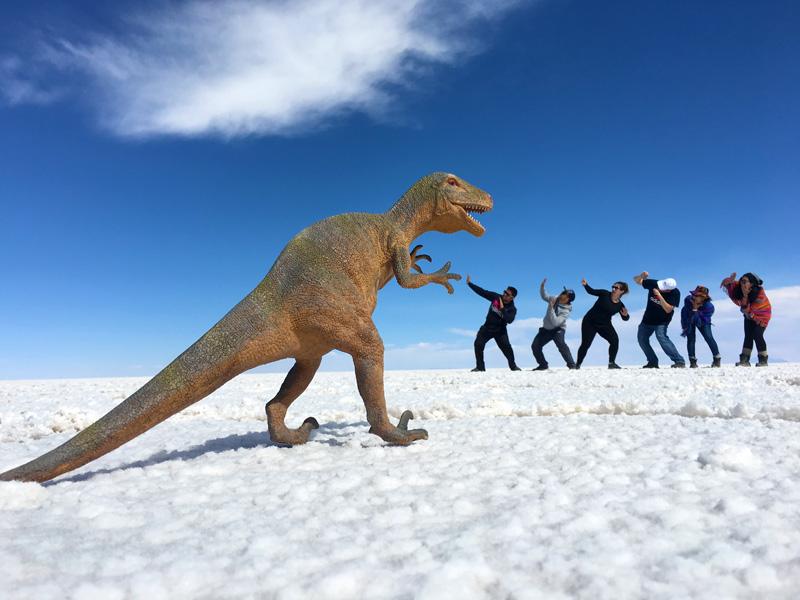 Salar de Uyuni Dinosaur