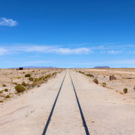 Uyuni Ghost Train Tracks, Bolivia
