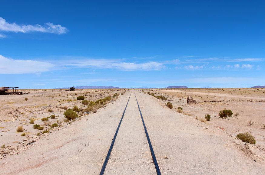 Ghost Train Tracks of the Uyuni Train Graveyard