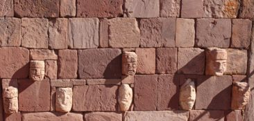 Stone faces of Tiwanaku, Bolivia