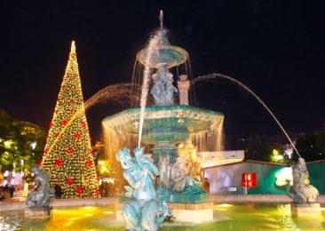 Lisbon Christmas market decorations